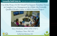 Use of the Project ECHO Model to Support Frontline Nurses in Complex Care Management in a Multi-Site Federally Qualified Health Center: HRSA-Funded Project