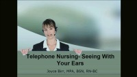 Telephone Nursing - Seeing with Your Ears