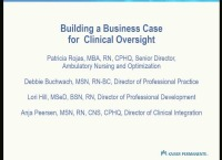 Building a Business Case for Clinical Oversight