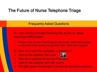 Medical Call Centers and the Medical Home - The Future is Now