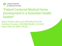 Patient Centered Medical Home Development in a Suburban Health System