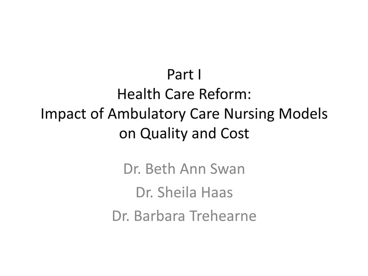 health care reform project, part i essay This essay, written for readers unfamiliar with the details of american health law and policy, portrays the essential features of the battle for health reform in the united states and of the law that survived the battle: the patient protection and affordable care act (ppaca.
