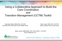 Using a Collaborative Approach to Build the Care Coordination and Transition Management (CCTM) Toolkit