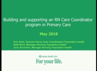 Building and Supporting an RN Care Coordinator Program in Primary Care
