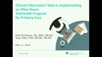 Clinical Informatics' Role in Implementing an After-Hours Telehealth Program for Primary Care