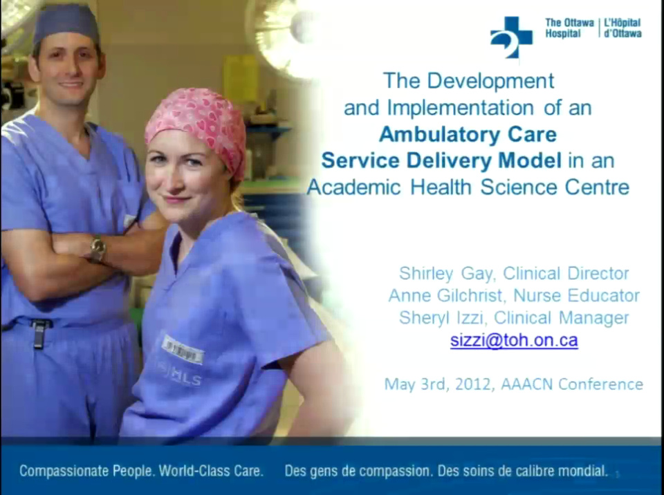 The Development And Implementation Of An Ambulatory Care