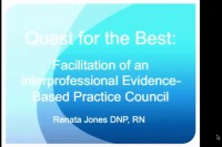 Quest for the Best - Interprofessional Evidence-Based Practice Council